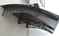 Металевий збірний дашок Dash'Ok Хайтек 1,5м*1м з монолітним полікарбонатом 3мм, фото 1