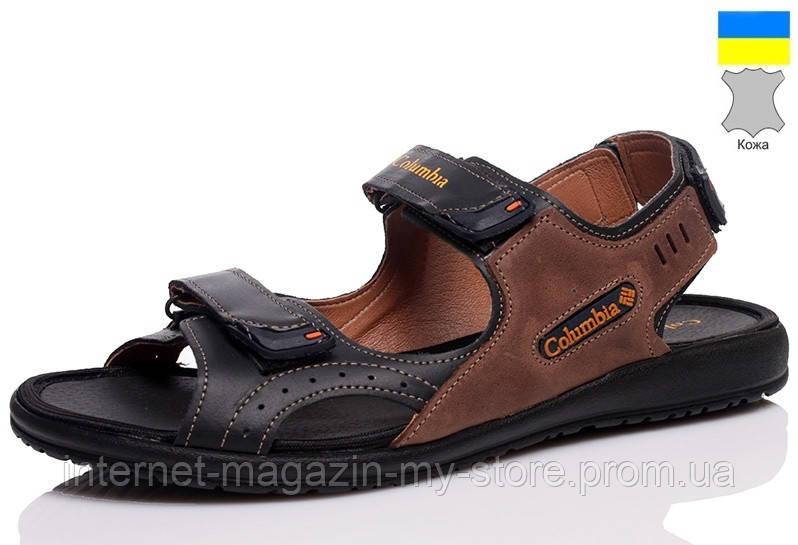 Мужские  кожаные  сандалии .
