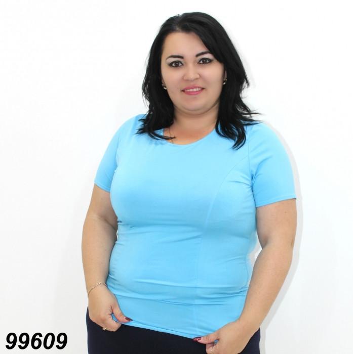 Женская трикотажная кофта,голубая 50,52,54