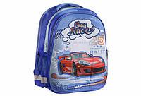 Рюкзак шкільний каркасний для хлопчика Kidis CRAZY RACE 7192, 39 * 30 * 18 см