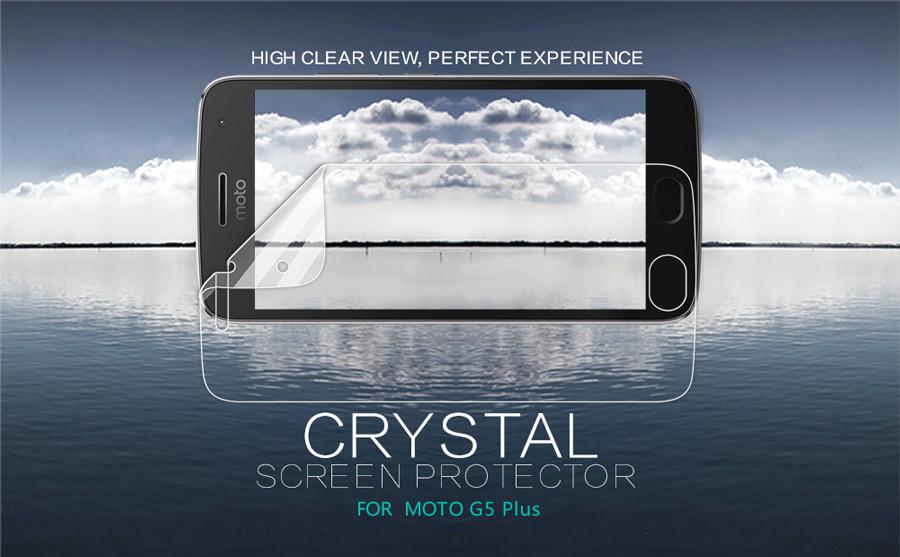 Защитная пленка Nillkin Crystal для Motorola Moto G5 Plus