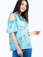 🌺 Женская блузка цветочная, фото 1