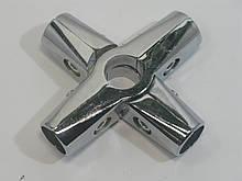 Кріплення перехресне до труби хромованої D25 муфта хром GIFF R45М система Джокер