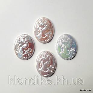 """Серединки """"Камея"""", 22×28 мм, Цвет: Перламутровые (5 шт.)"""