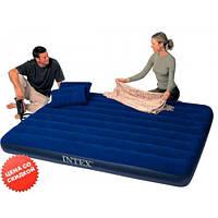 Велюровая кровать матрац Intex 68765 с насосом и подушками