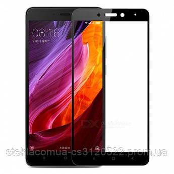 Защитное стекло 5D Xiaomi Redmi Note 4 Black (Черная рамка)