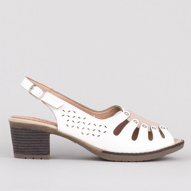 Босоножки на каблуке Sopra L103-001A WHITE 36 23 см