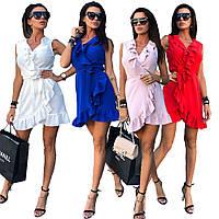 Женское летнее платье сарафан с воланами /разные цвета, 42-52р, sh-010/