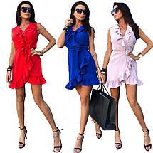 Женское летнее платье сарафан с воланами sh-010 (42-50р, разные цвета), фото 2