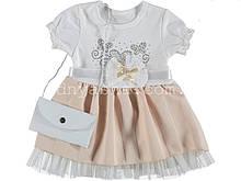 Платье для девочки с сумочкой на 6-12 мес