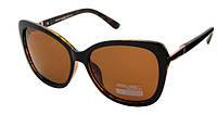 Солнцезащитные очки коричневые женские Aolise Polaroid