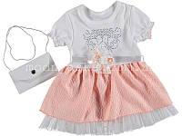 Платье для девочки с сумочкой на 6-12 месяцев