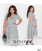 Стильное платье    (размеры 50-56)  0182-65