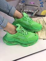 Модні жіночі кросівки Шкіряні кросівки Triple S від Balenciaga (репліка), фото 1