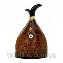 Ваза керамическая фигурная коричневая 45см