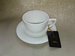 Чашка для капучино 170 мл і блюдце 1 пара Wilmax від Юлії Висоцької WL-880106-JV/A