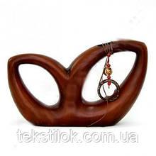 Ваза керамическая фигурная коричневая 23см