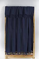 Плед хлопок 145х160 Sapphire синий Lotus