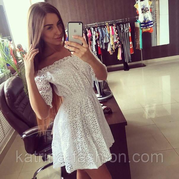 Платье прошва белое