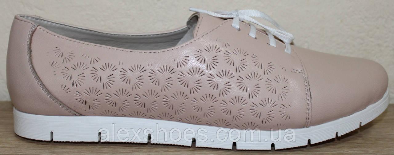 Туфли женские большого размера из натуральной кожи от производителя модель В3544-18
