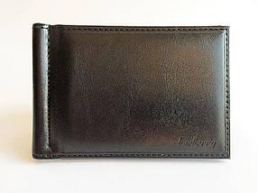 Чоловічий гаманець з затискач для купюр Baellerry чорний, фото 2