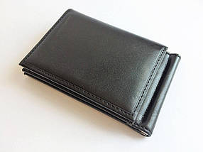 Чоловічий гаманець з затискач для купюр Baellerry чорний, фото 3