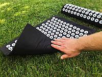 Аппликатор коврик и подушка (валик) Кузнецова Массажный массажер для спины/ног набор VMSport BLACK