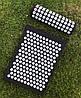 Аппликатор коврик и подушка (валик) Кузнецова Массажный массажер для спины/ног набор VMSport BLACK - Фото