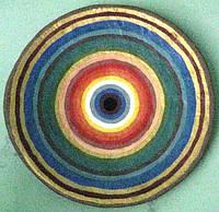 """Тарелка """"Спектр рассвета 2"""" 42 см керамика настенная большая Блюдо керамическое"""