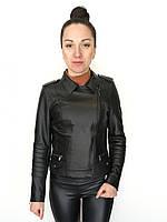Куртка кожаная Oscar Fur 579 Черный