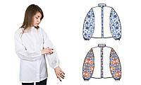 873-18/09 Сорочка женская под вышивку, белая, длинный рукав, Код товара: 1064742