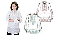 874-18/09 Сорочка женская под вышивку, белая, длинный рукав, Код товара: 1064766