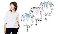 ТПК-162 03-02/09 Сорочка женская под вышивку, белая, 3/4 рукав, Код товара: 1030752