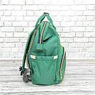 Сумка-рюкзак для мам LeQueen. Зеленый, фото 7