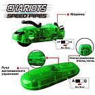 Светящиеся трубопроводные гонки CHARIOTS SPEED PIPES / трубопроводный автотрек / гоночный трек (37 деталей), фото 7