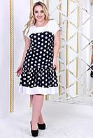 Стильное платье    (размеры 50-56)  0182-94