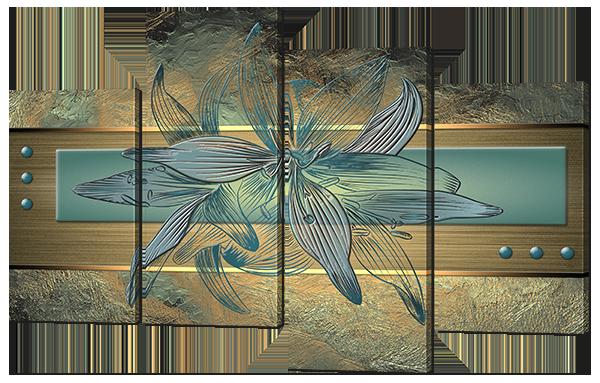 Модульная картина Interno Искусственный холст Необычна лилия 140x96см (Z657XL)