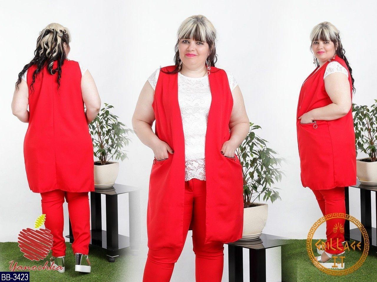 Стильный костюм    (размеры 50-60)  0182-97