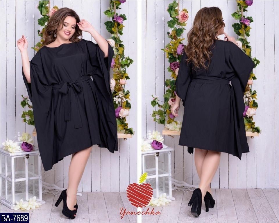 Стильное платье    (размеры 50-60)  0182-98