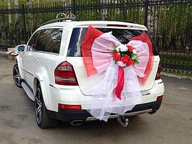 """Бант на багажник машины с икебаной из цветов """"Свадьба"""""""