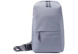 Сумка XIAOMI через плече mini   Міні рюкзак Xiaomi Urban Backpack з одного лямкою сірий