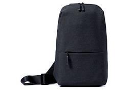 Сумка XIAOMI через плече mini   Міні рюкзак Xiaomi Urban Backpack з одного лямкою чорний