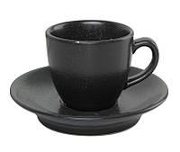 Чашка кофейная с блюдцем - 80 мл, Черная (Porland) Seasons Black