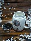 Чашка керамічна з кришкою Starbucks SH 025-1 Brown гуртка Старбакс, фото 2