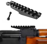 Планка Пикатинни Вивера 20 мм вместо прицельной планки на Калашников Сайга АК АКМ СКС Вепрь карабин крепление