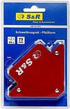 Магнитный держатель для сварки 11 кг угловой 45°,90°,135° S&R (Германия), фото 3