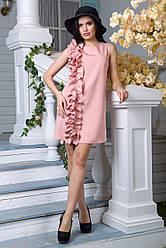 Платье FLFashion Вишна пудра размер XL (ЖПВ 1073)