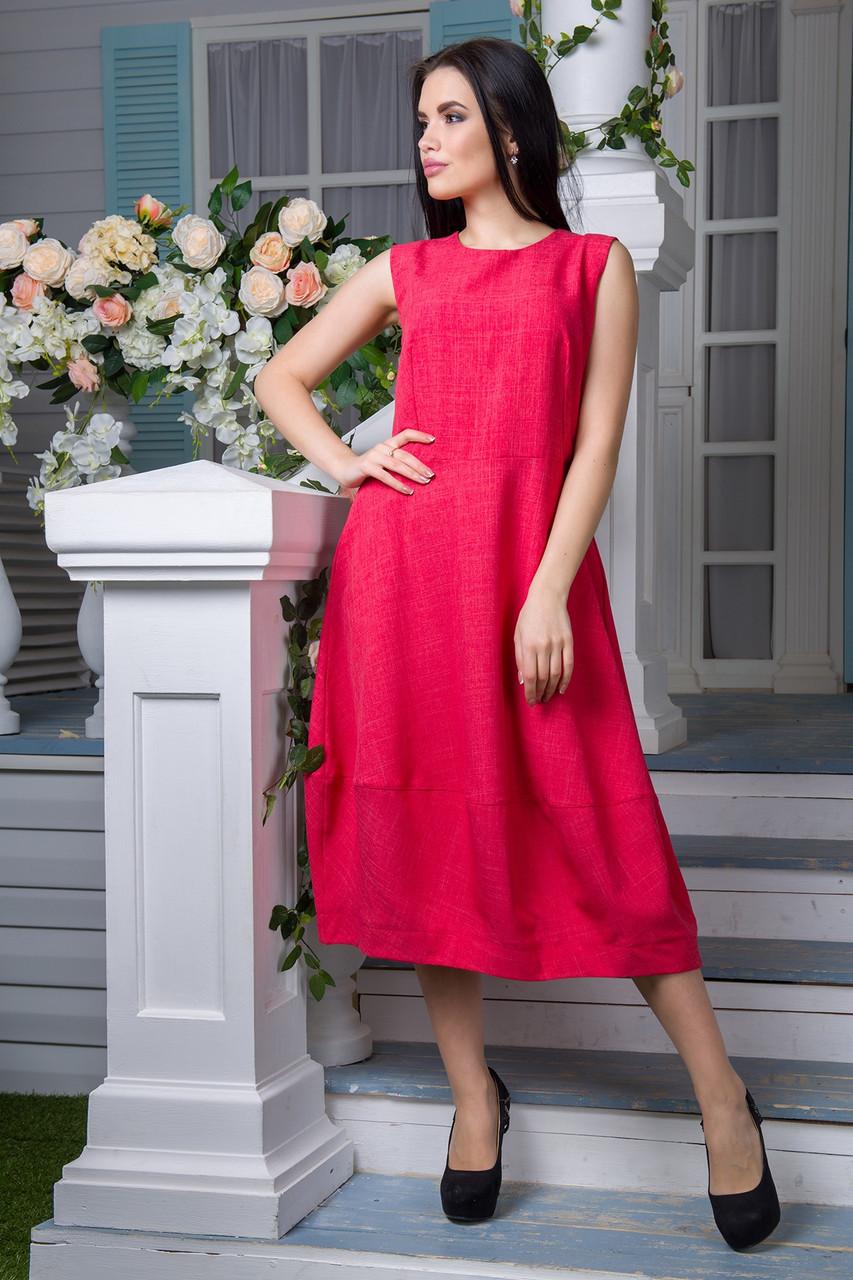 Платье FLFashion Маша коралл размер XL (ЖПМ 1033)