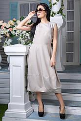 Платье FLFashion Маша бежевый размер XL (ЖПМ 1031)