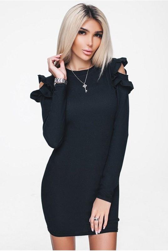 Женское платье ГРЕЙС 42 Черное (017впвС052)